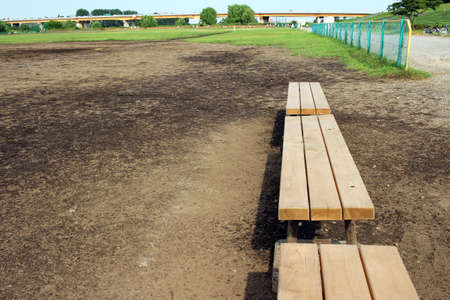 riverbed: Baseball field of dry riverbed Stock Photo