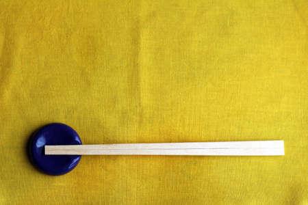 kin: Chopstick rest and disposable chopsticks Stock Photo