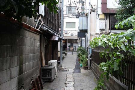 back alley: Back alley of Yotsuya Tokyo