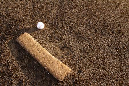 mound: Baseball ball and mound