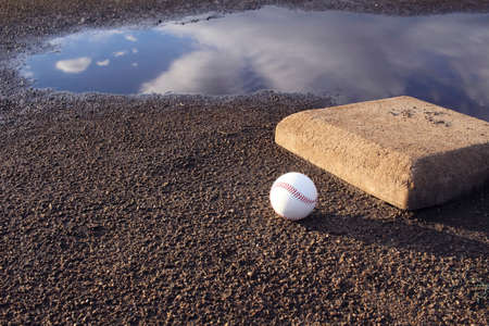 homeplate: Baseball field after the rain