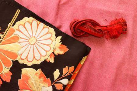 formal dressing: Kimono and obi and banding