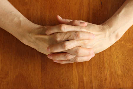join hands: I join hands Stock Photo