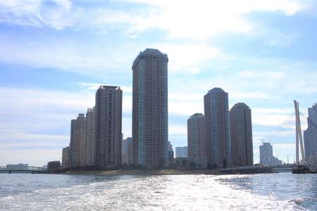 sumida: Sumida River waterfront Stock Photo