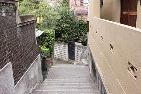 back alley: Back alley of Kagurazaka in Tokyo