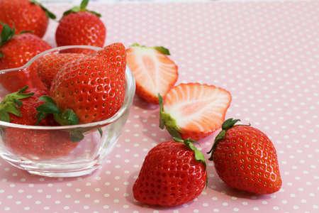 イチゴの季節 写真素材