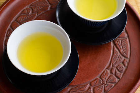 green: green tea Stock Photo