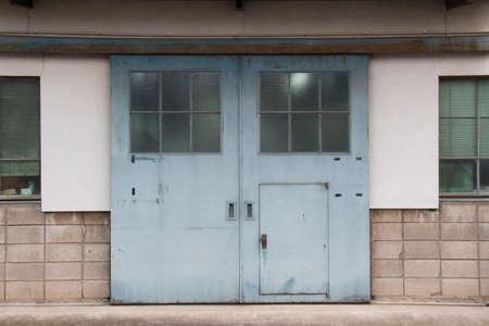 blue door: The entrance of the blue door