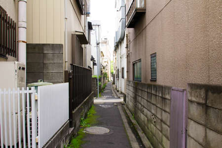 back alley: Tokyo Nezu of the back alley Stock Photo