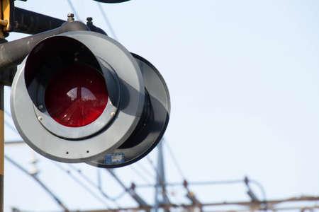 flashing: Flashing signal of the level crossing