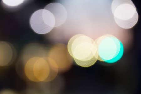round: Sunset view round blur Stock Photo