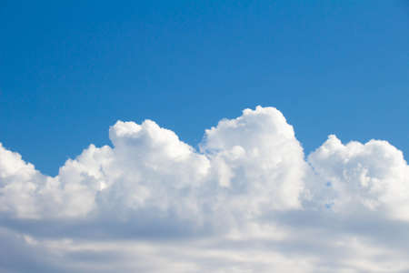 raged: White clouds raged and blue sky finished Stock Photo