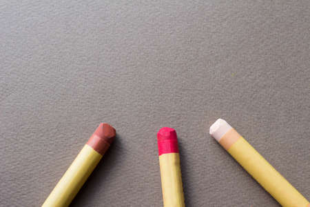 art lessons: crayon Stock Photo