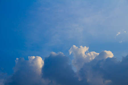 raged: Clouds raged and blue sky Stock Photo