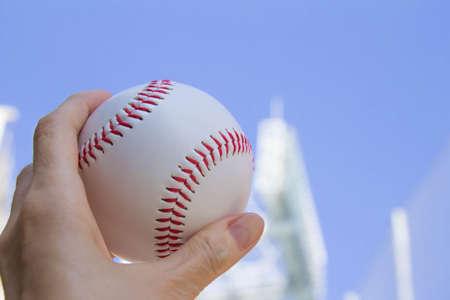 hardball: Baseball and baseball field and the sky