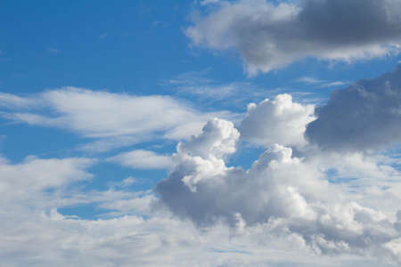 raged: White clouds raged and blue sky