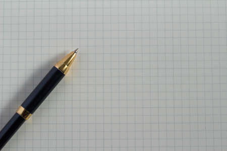 grid: Grid notes and pen Stock Photo
