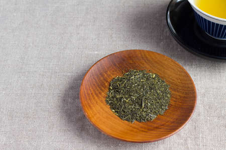 japanese tea: Tea leaves of Japanese tea