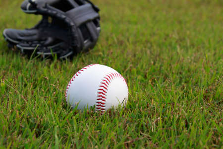 mitt: Baseball ball and glove