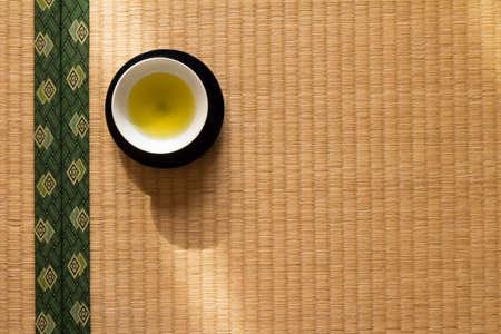 japanese tea: Japanese tea placed in tatami