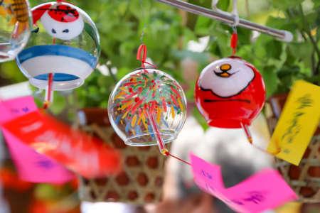Sensoji temple Cherry citys wind chimes