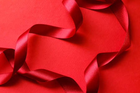 Image of a red gift Stock Photo