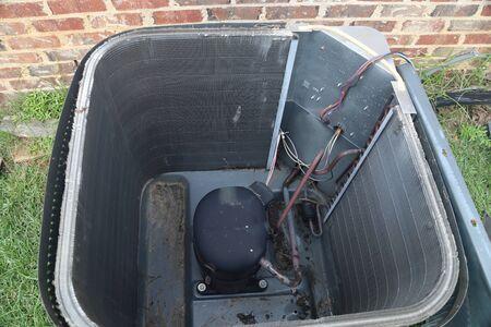 Inside air conditioner condenser coil maintenance