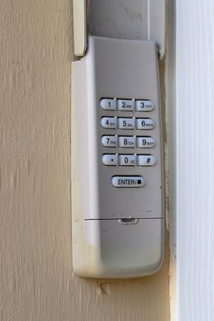 Code Keypad used on a garage door entrance to a home - security keypad - security code