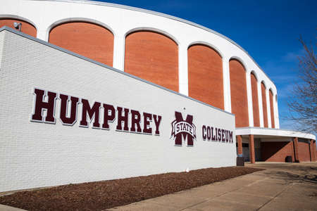 Starkville, MS / USA: Humphrey Coliseum, commonly called The Hump, on the campus of Mississippi State University 新聞圖片