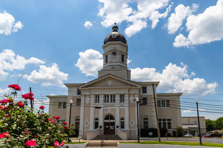 Port Gibson, MS / USA: The historic Claiborne County Courthouse in Port Gibson, Mississippi