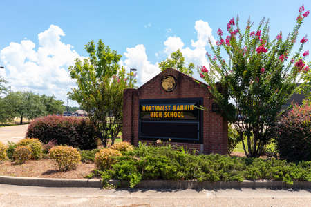 Flowood, MS / USA - August 19, 2020: Northwest Rankin High School, in the Rankin County School District