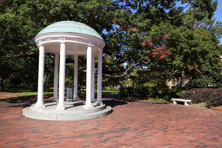 Chapel Hill, NC / USA - October 21, 2020: The Old Well on the campus of the University of North Carolina