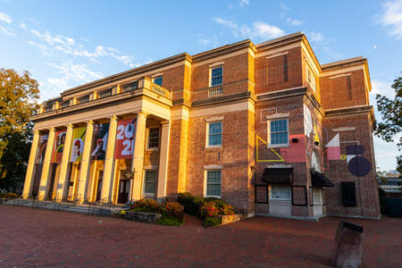 Chapel Hill, NC / USA - October 23, 2020: Memorial Hall on the Campus of UNC, University of North Carolina at Chapel Hill