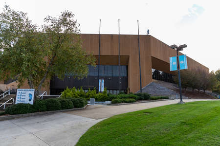 Chapel Hill, NC / USA - October 22, 2020: Dean E. Smith Center on the campus of the University of North Carolina.
