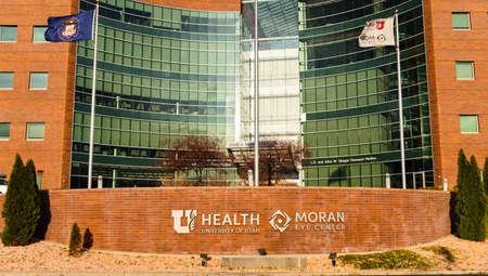 Salt Lake City, UT / USA - November 6, 2020: John A. Moran Eye Center at the University of Utah Health 新聞圖片