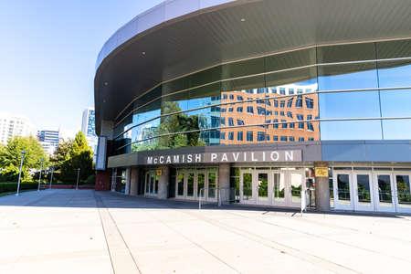 Atlanta, GA / USA - October 29 2020: McCamish Pavilion, nicknamed The Thrillerdome, on the campus of Georgia Tech