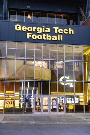 Atlanta, GA / USA - October 30 2020: Team Entrance for the Georgia Tech Football Facility at Bobby Dodd Stadium