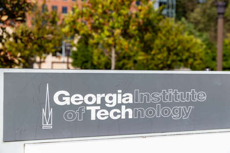 Atlanta, GA / USA - October 29 2020: Georgia Institute of Technology sign