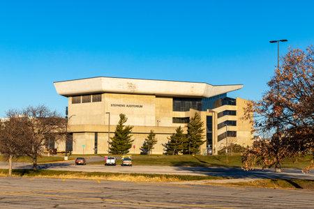 Ames, IA, USA - December 4, 2020: Stephens Auditorium on the campus of Iowa State University