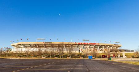 Ames, IA, USA - December 4, 2020: Jack Trice Stadium on the campus of Iowa State University 新聞圖片
