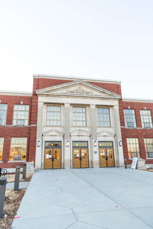 Ames City Hall in Ames, Iowa 新聞圖片
