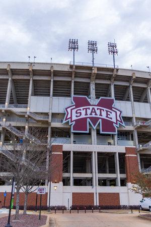 Starkville, MS / USA - December 19, 2020: Davis Wade stadium, home to Mississippi State University Bulldogs football program