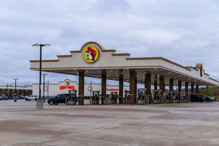 Luling, TX, USA - December 31, 2020: Buc-ee's Convenience store and gas station