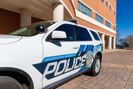 Jackson, MS: Jackson State University Police vehicle on campus