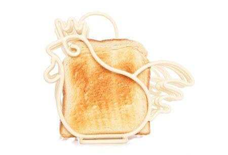 cockrel: cream toast holder studio cutout