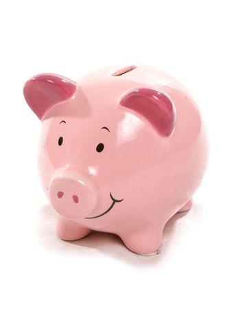 Pink pig piggy bank Stock Photo