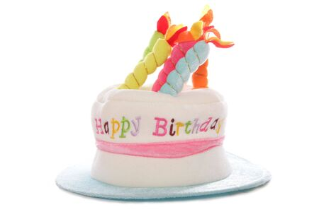 Happy birthday hat studio cutout Stock Photo - 8012833