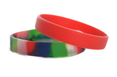 wristbands: Two Charity wristbands studio cutout