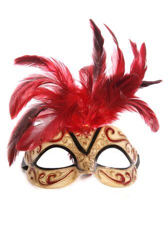 Mascarada m�scara de recorte de estudio sobre fondo blanco