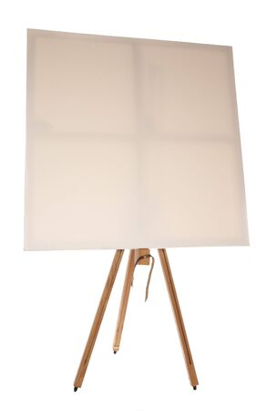 blank canvas on easel studio cutout photo